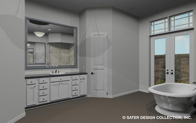 Emery House Plan master bath vanity
