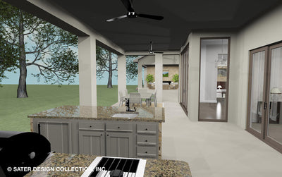 Emery House Plan outdoor kitchen