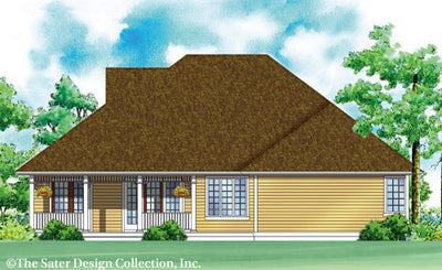 Riverwood Home-Rear Elevation Render Image-Plan #7001