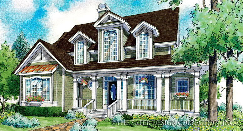 Lanchester-Front Elevation-Plan #7007