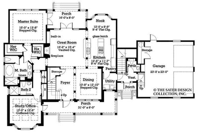 Aveline-Main Level Floor Plan -#7014