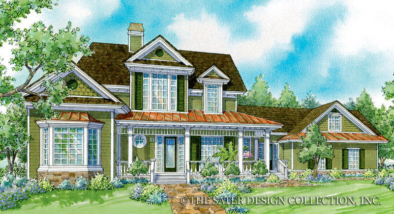 Huntington Front Elevation Render Image Plan #7015