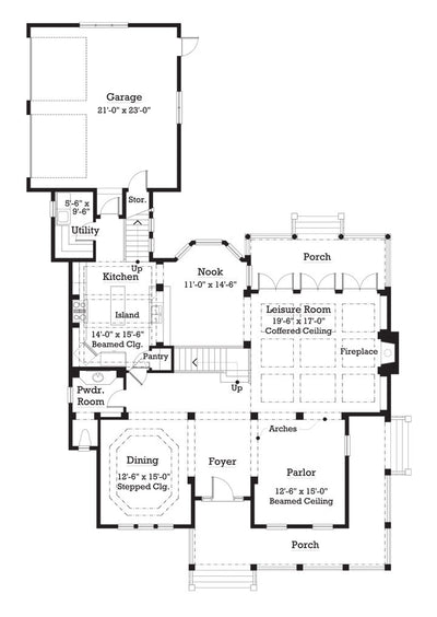 Kenton Farms- Main Level Floor Plan -#7016