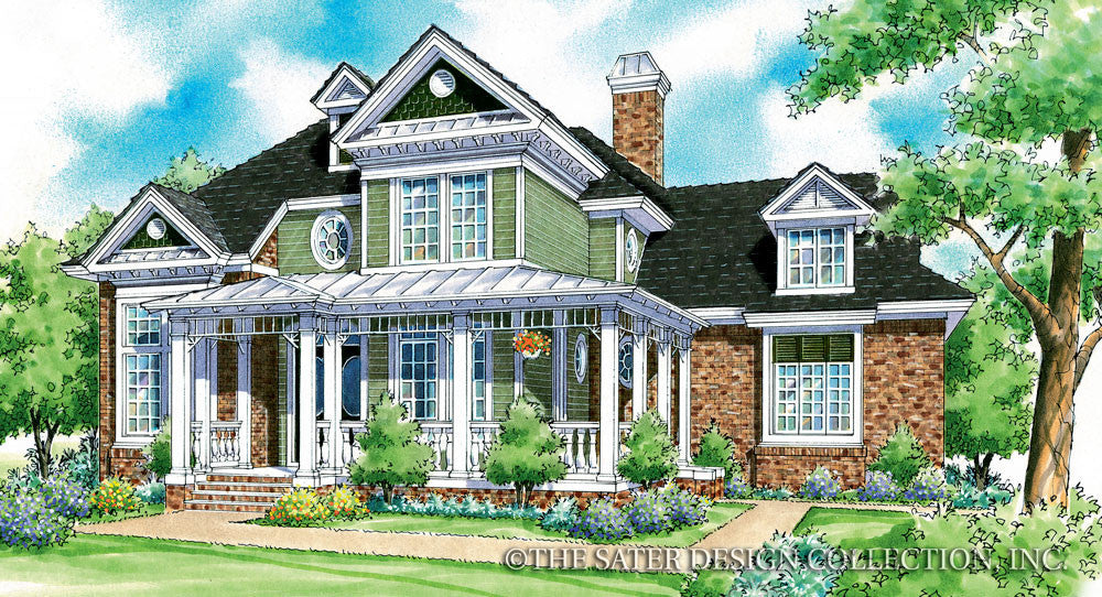 Remy Court Home-Front Elevation Render Image-Plan #7021