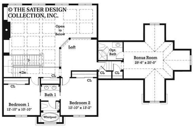 Ansel Arbor-Upper Level Floor Plan-Plan 7023
