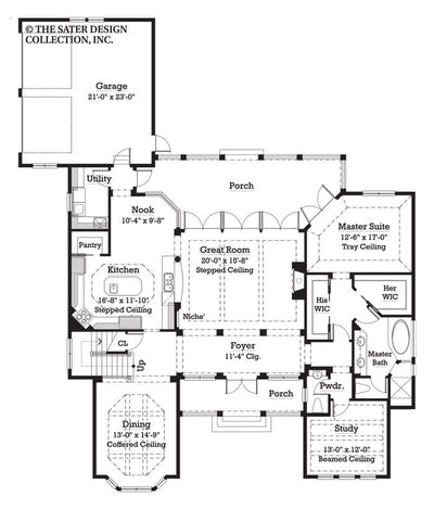 Bricewood- Main Level Floor Plan -#7025