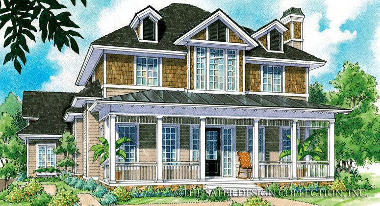 Kendall-Front Elevation-Plan #7028