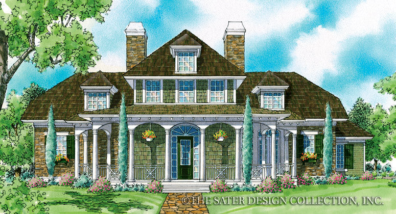 Merchan-Front Elevation-Plan #7032