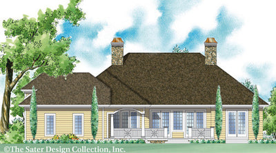 Medora-Rear Elev Rendering-Plan #7035