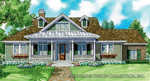 House plan whitney sater design collection for Builder house plans cottage of the year