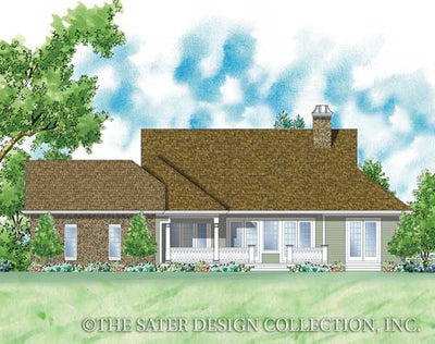 Whitney-Rear Elev Rendering-Plan #7036