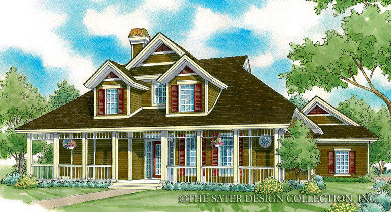 Bakersfield-Front Elevation-Plan #7040