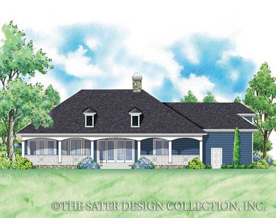 Crescent Somer-Rear Elevation-Plan #7044
