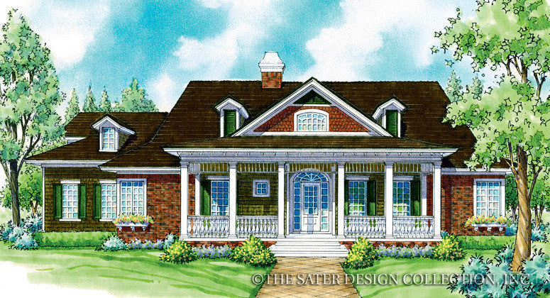 Saville-Front Elevation-Plan #7045