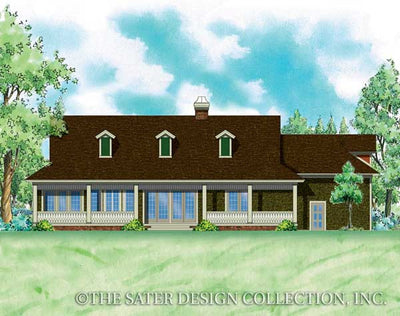 Saville-Rear Elevation-Plan #7045