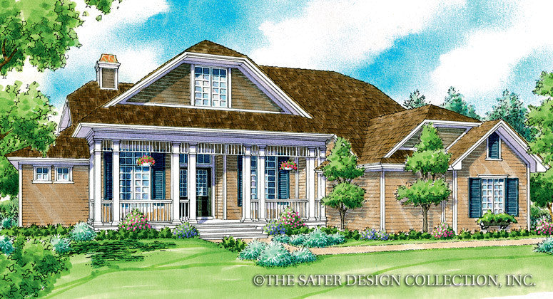 Montgomery Home Front Elevation Render - Plan #7049