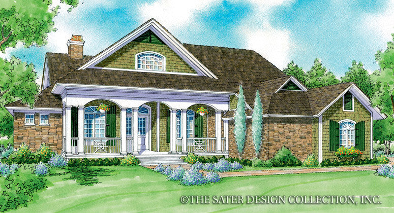 Lunden Valley-Front Elev Rendering-Plan#7050