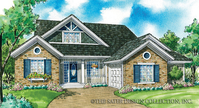 Cassidy-Front Exterior Rendering-Plan #7054