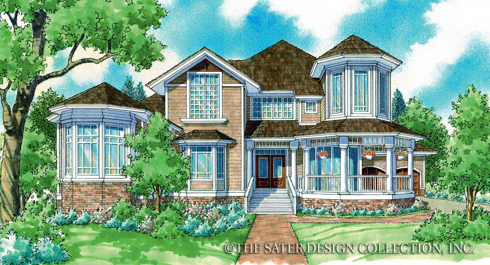Wheatfield Home Front Elevation-Plan #7055