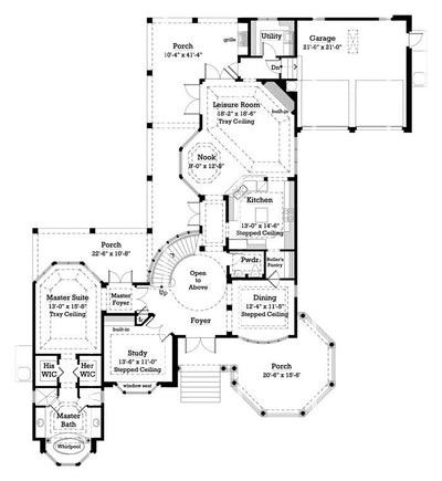 Chelsea- Main Level Floor Plan -#7057