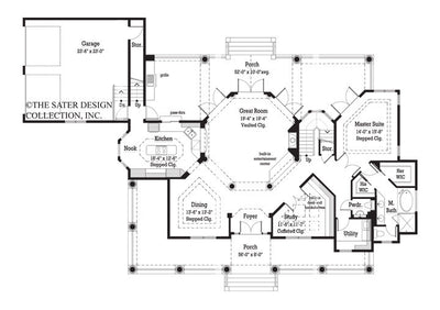 Cloverdale-Main Level Floor Plan-#7058