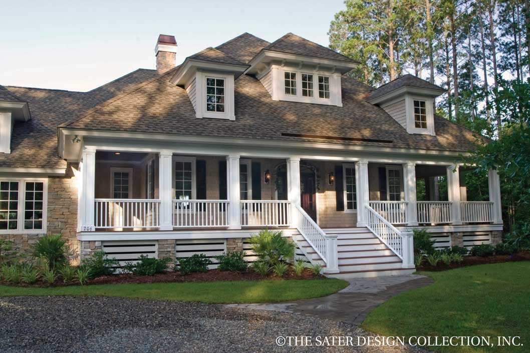 House plan oak island sater design collection for Country house collection