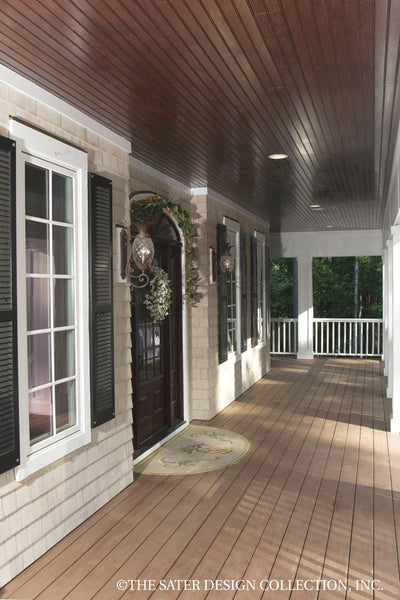 Oak Island Home Plan 7062 front porch
