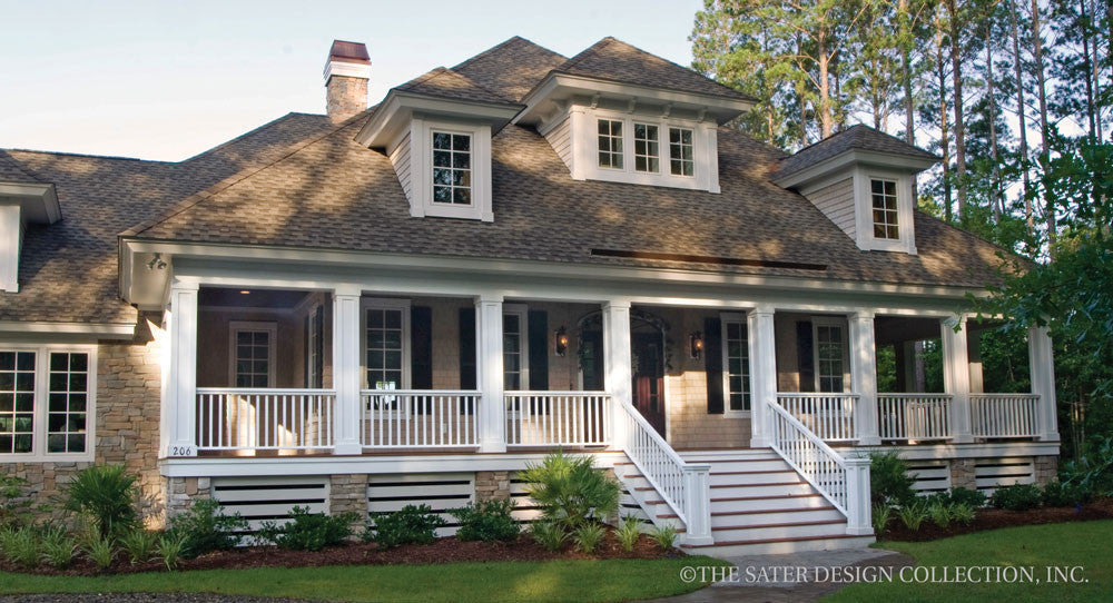 Oak Island Home - Exterior View Plan 7062