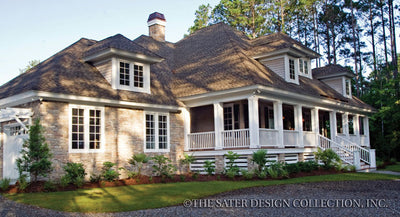 Oak Island-Front Elevation-Plan #7062