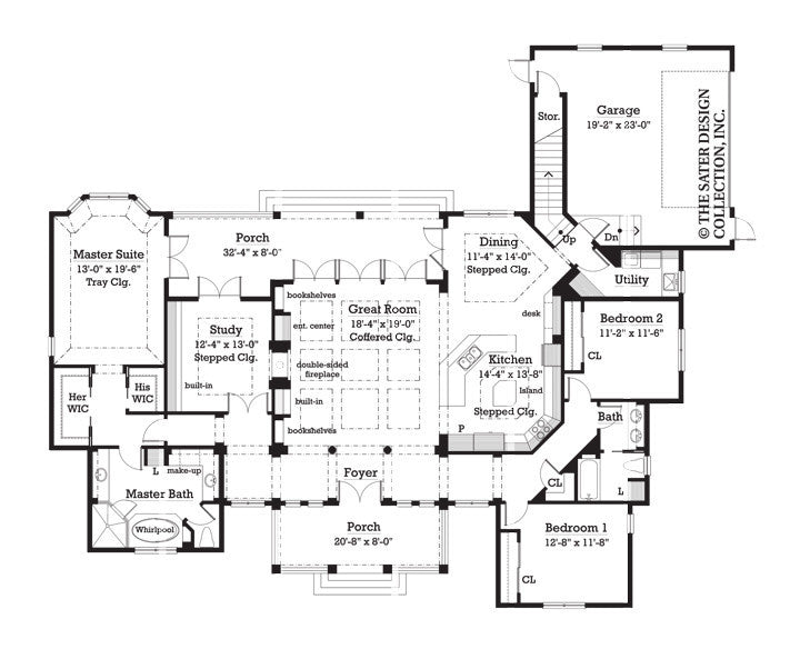 House plan madison sater design collection for Madison house plan