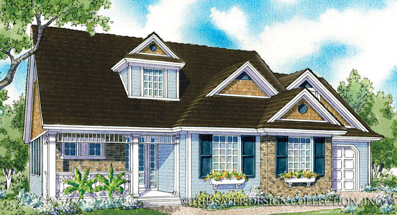 Auberry- Front Elevation - Plan #7069