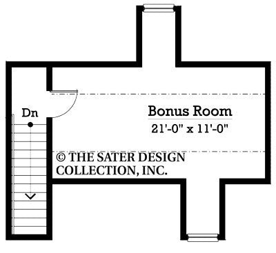Westbury-Bonus Room Floor Plan-Plan #7073