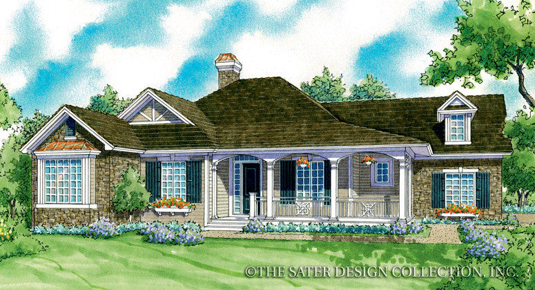 Davenport-Front Elevation-Plan #7074