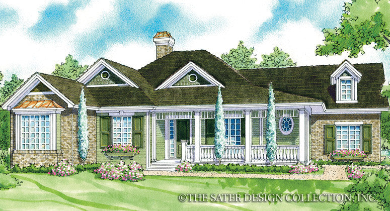 Laurel Lake-Front Elevation-Plan #7075
