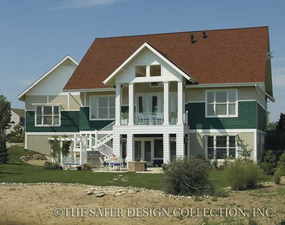 Dune Ridge-Rear Elevation-Plan #7078