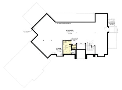 Buttercup House Plan, basement floor plan