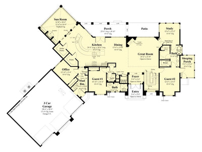 Buttercup House Plan, first floor plan
