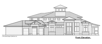 Buttercup House Plan, front elevation