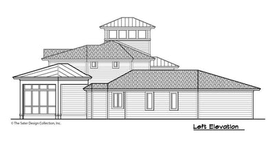 Buttercup House Plan, left elevation