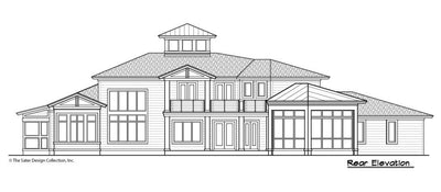 Buttercup House Plan, rear elevation