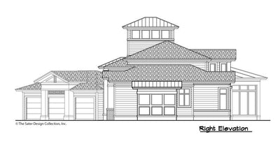 Buttercup House Plan, right elevation