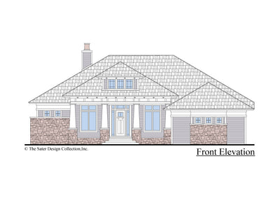 The Burroughs House Plan front elevation