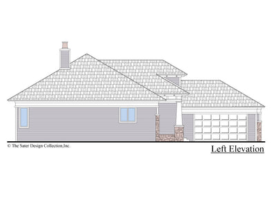 The Burroughs House Plan Left Elevation