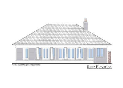 The Burroughs House Plan Rear Elevation