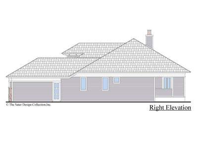 The Burroughs House Plan Right Elevation