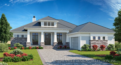 The Burroughs Home Design front elevation rendering