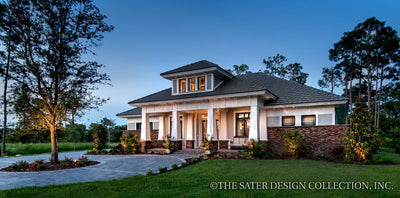 Prairie Pine Court Front Entrance - Plan 7083 craftsman home plan
