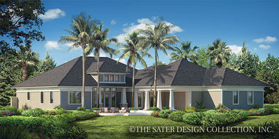 Prairie Pine Court-Rear Elevation-Plan #7083