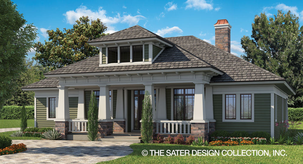 A smaller version of our most beloved home plan \u201cPrairie Pine Court\u201d this house plan still retains the charm and Craftsman touches of its larger ... & Small Luxury House Plans | Sater Design Collection Home Plans