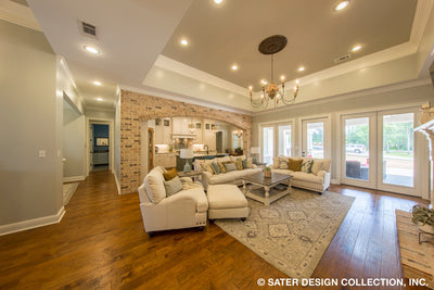 Bayberry Lane House Plan great room and kitchen